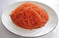 Нарезка соломкой моркови